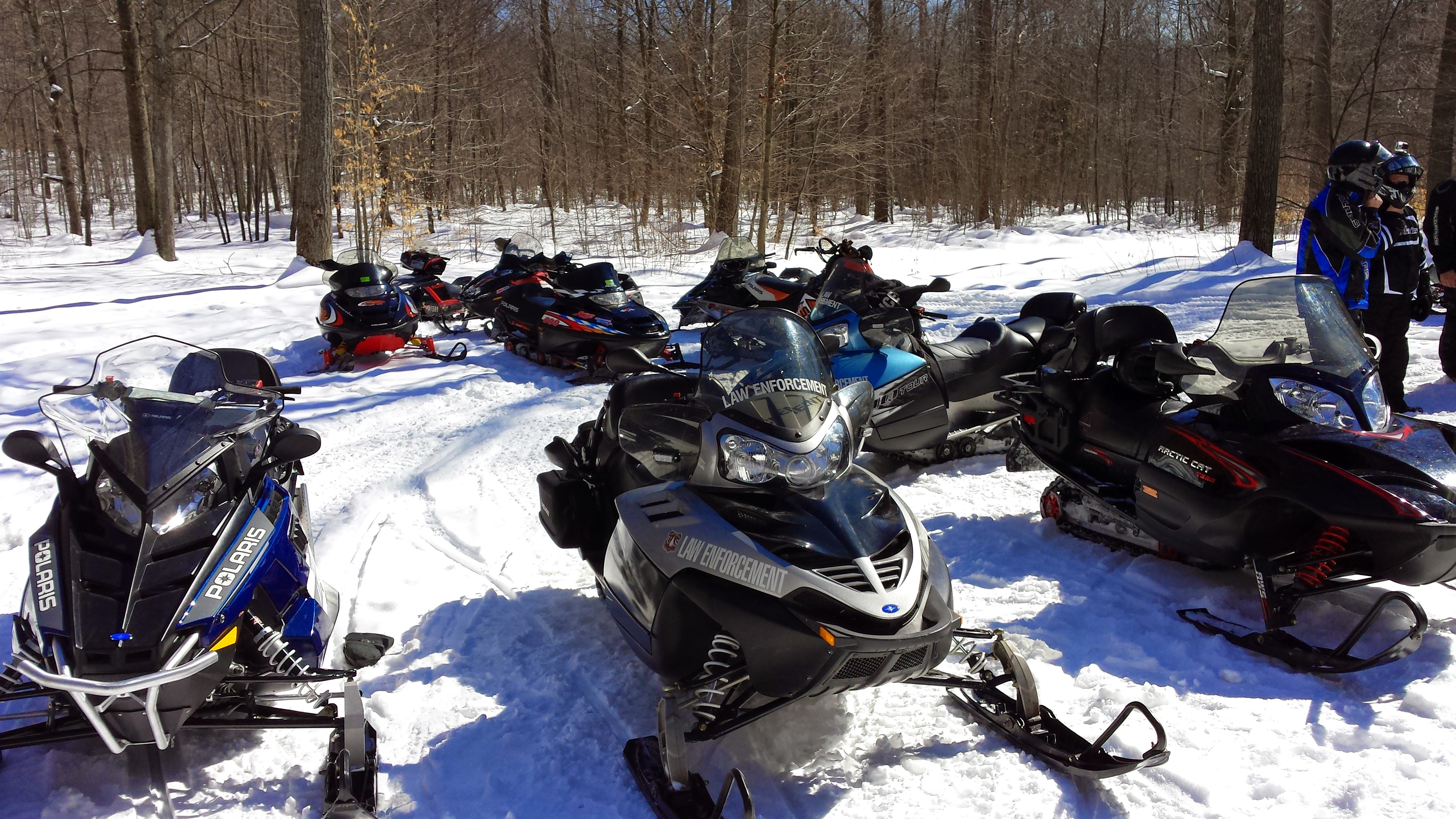 Winter: Snowmobiles
