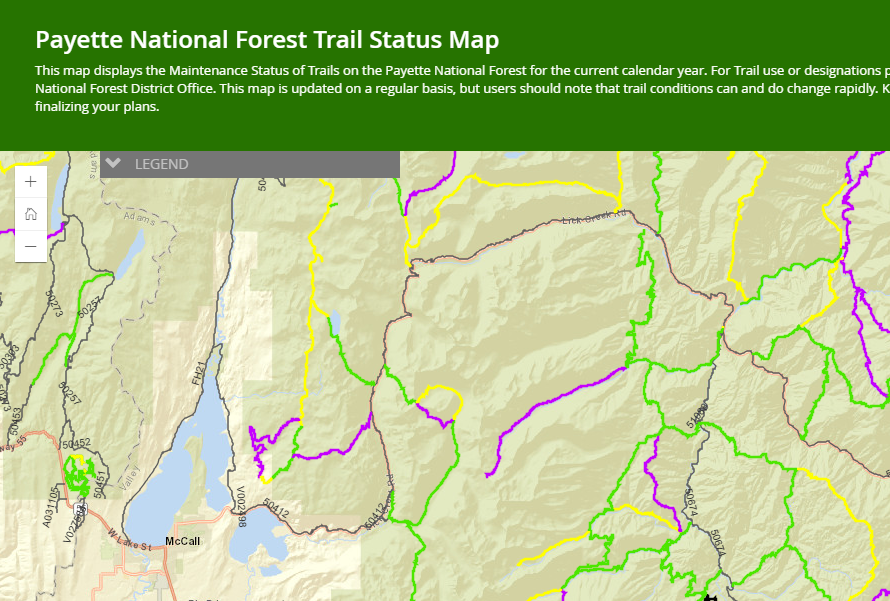 Trail Status Map Preview