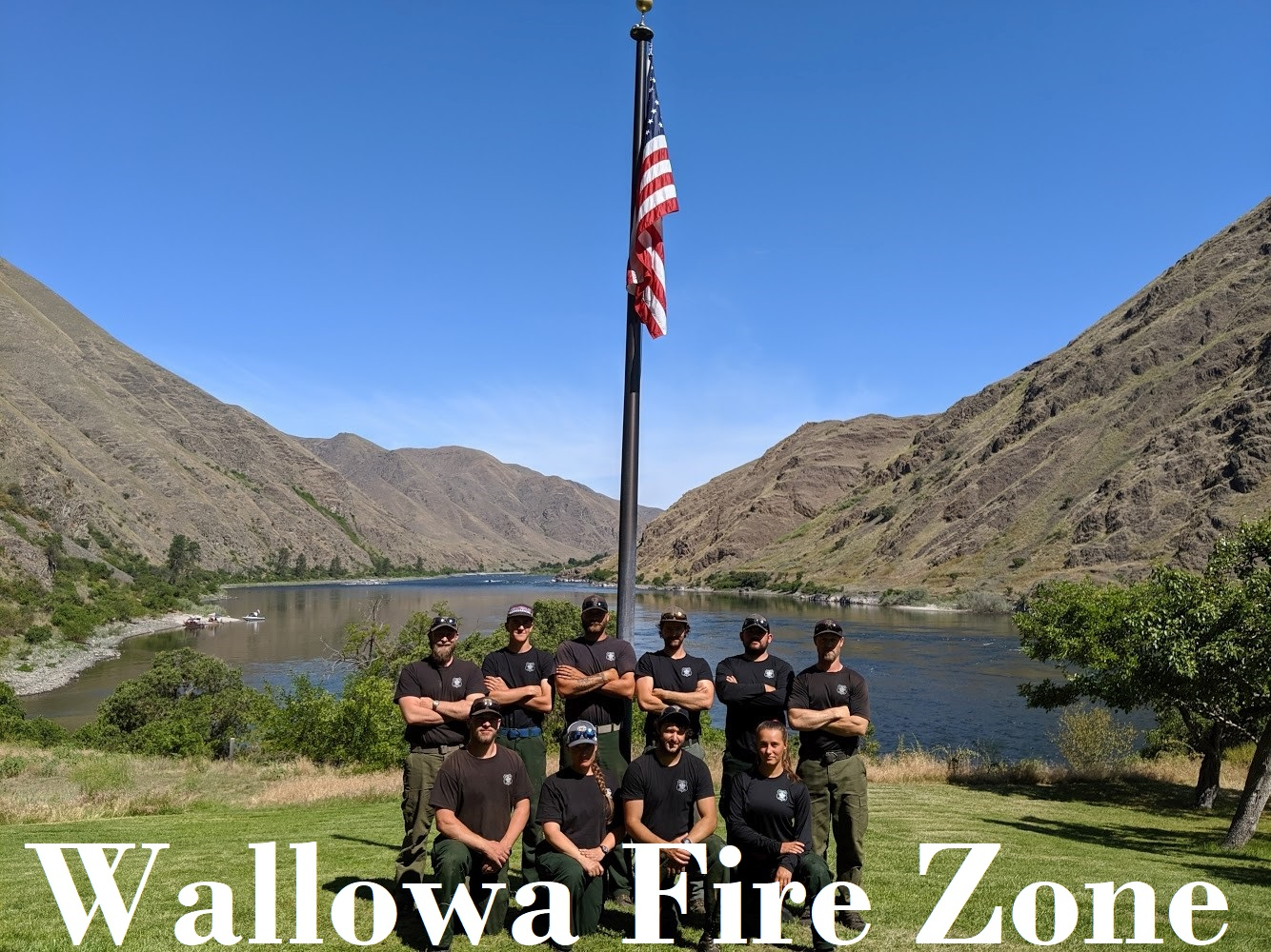 Wallowa Fire Zone Crew 51 at Cache Creek Admin site in the Hells Canyon NRA
