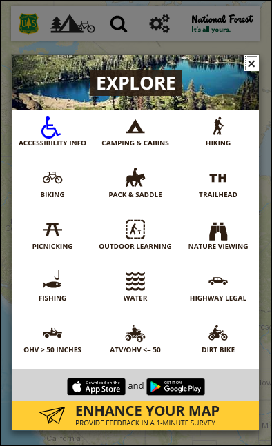 Interactive Visitor Map-vertical clipart