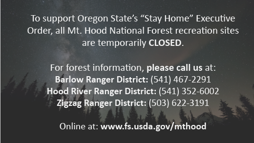 All recreation sites on the forest are temporarily closed.