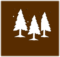 symbol with trees for recreation