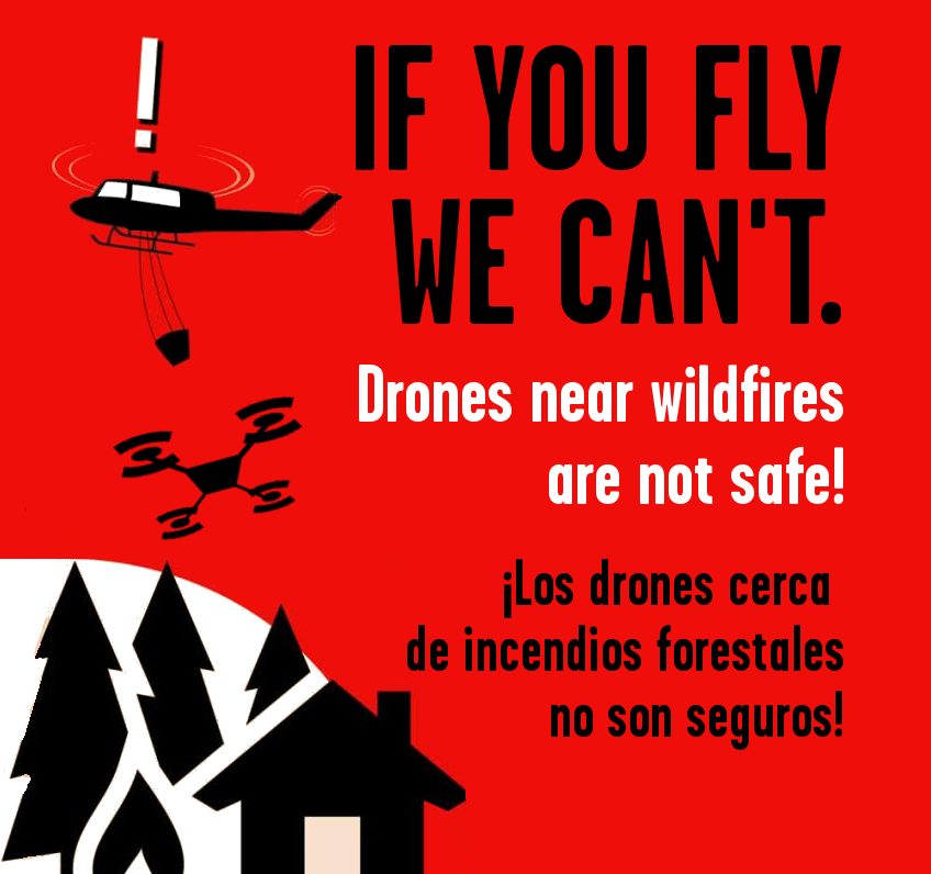 No drones near wildfires