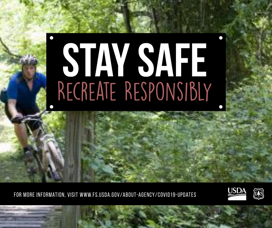 Mountain Biker Stay Safe Recreation Responsibly