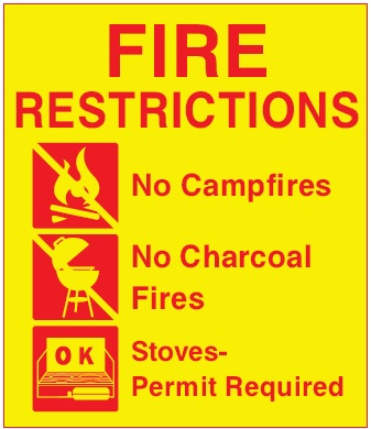 This sign shows what campfire restrictions may be in place.