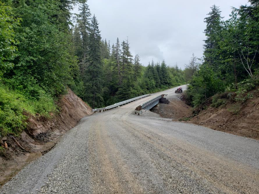Hoonah bridge - completed bridge