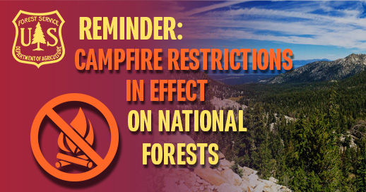 Fire restrictions in effect on national forests