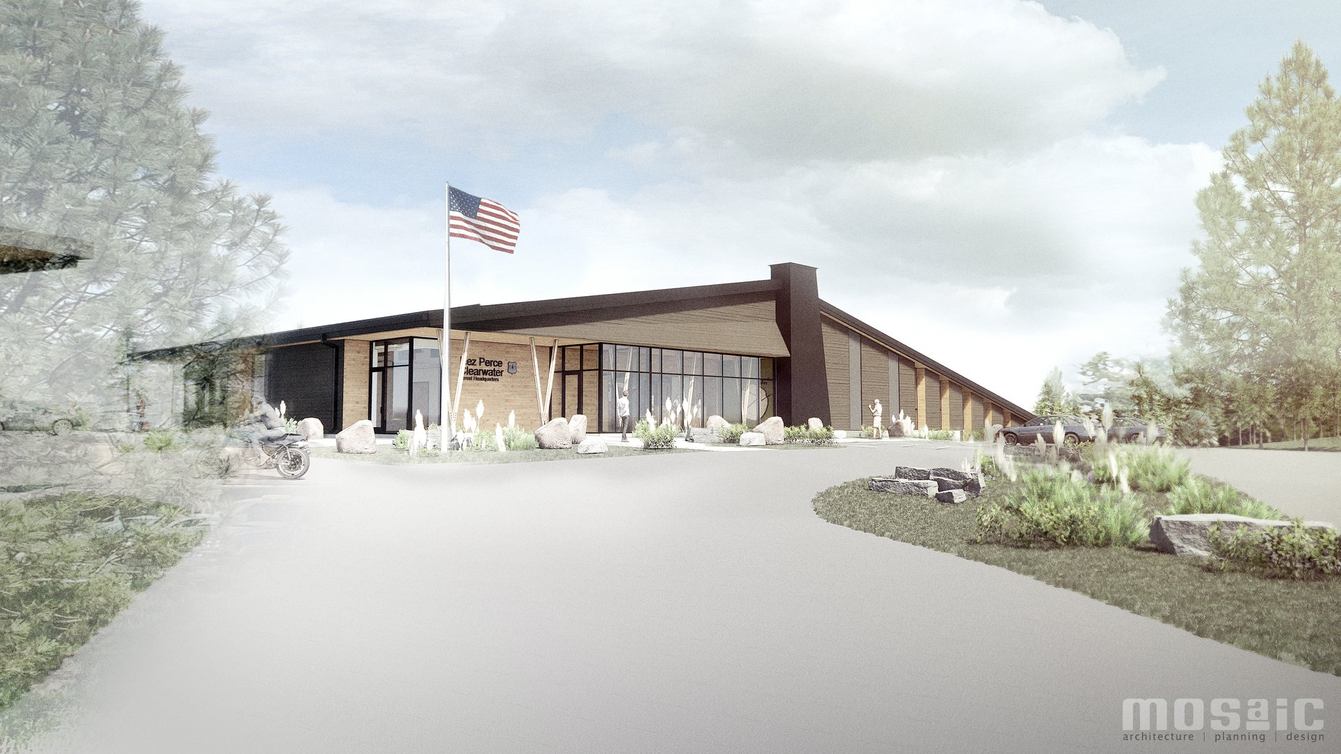 An artist's rendition of the new Forest Service office in Kamiah
