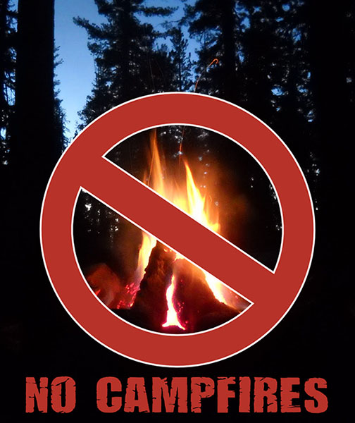 No Campfires allowed