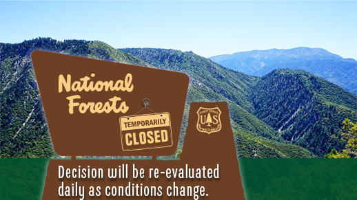 Forest Closure Sign Official