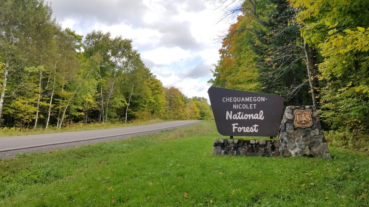 Chequamegon-Nicolet National Forest sign.