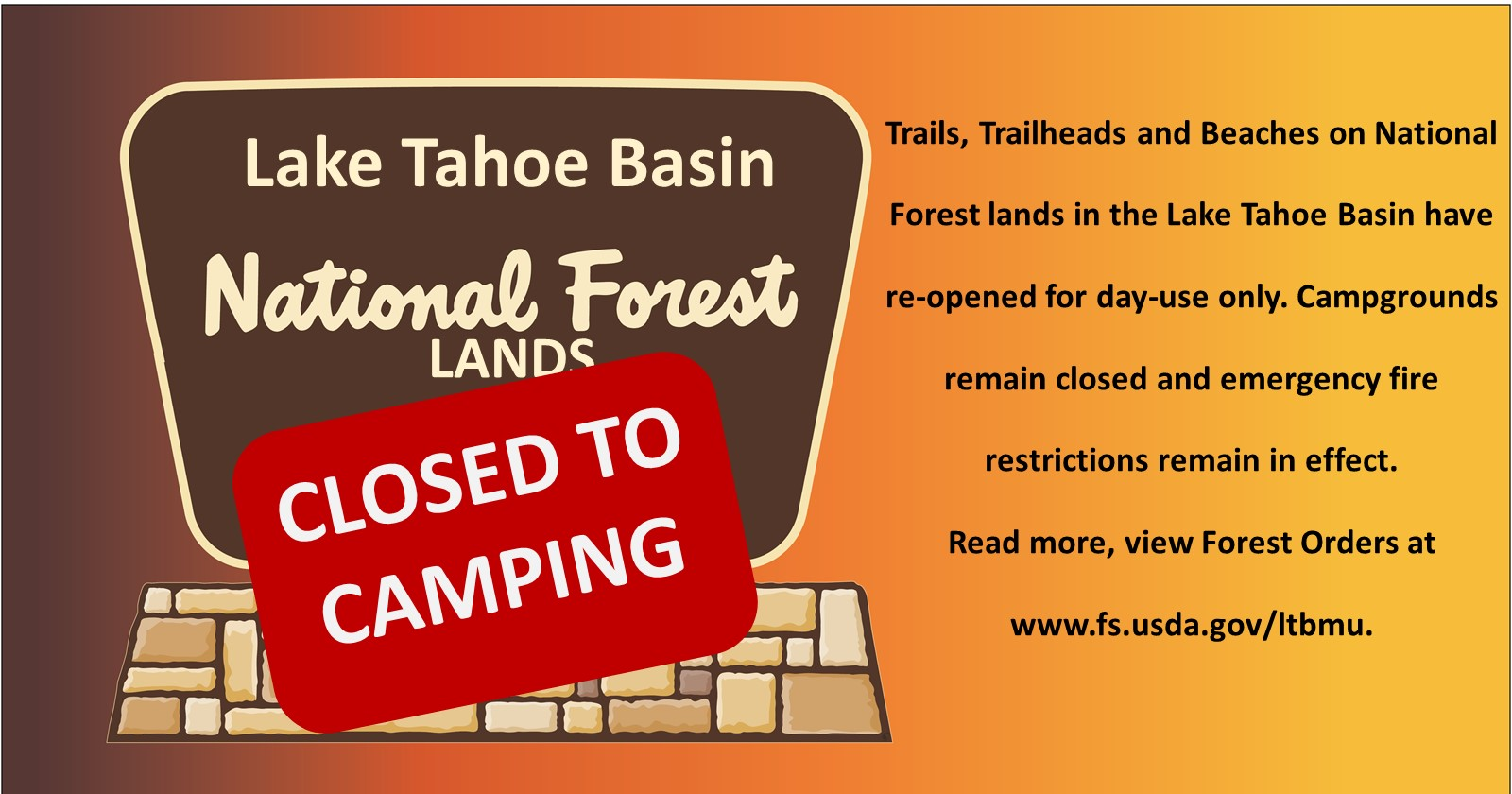 Campgrounds Closed Graphic