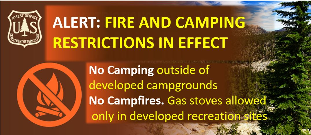 Alert: Fire and Camping Restrictions in Effect
