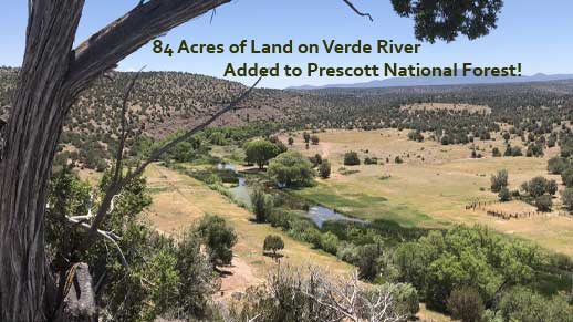 84 acres of land on Verde River added to Prescott NF