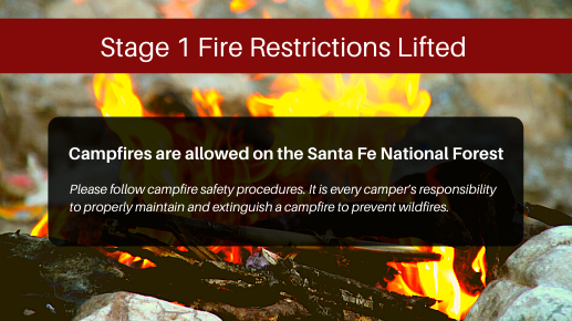Stage 1 Fire Restrictions Lifted