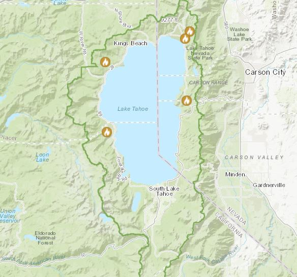 Map of prescribed fire project locations for Nov. 16, 2020