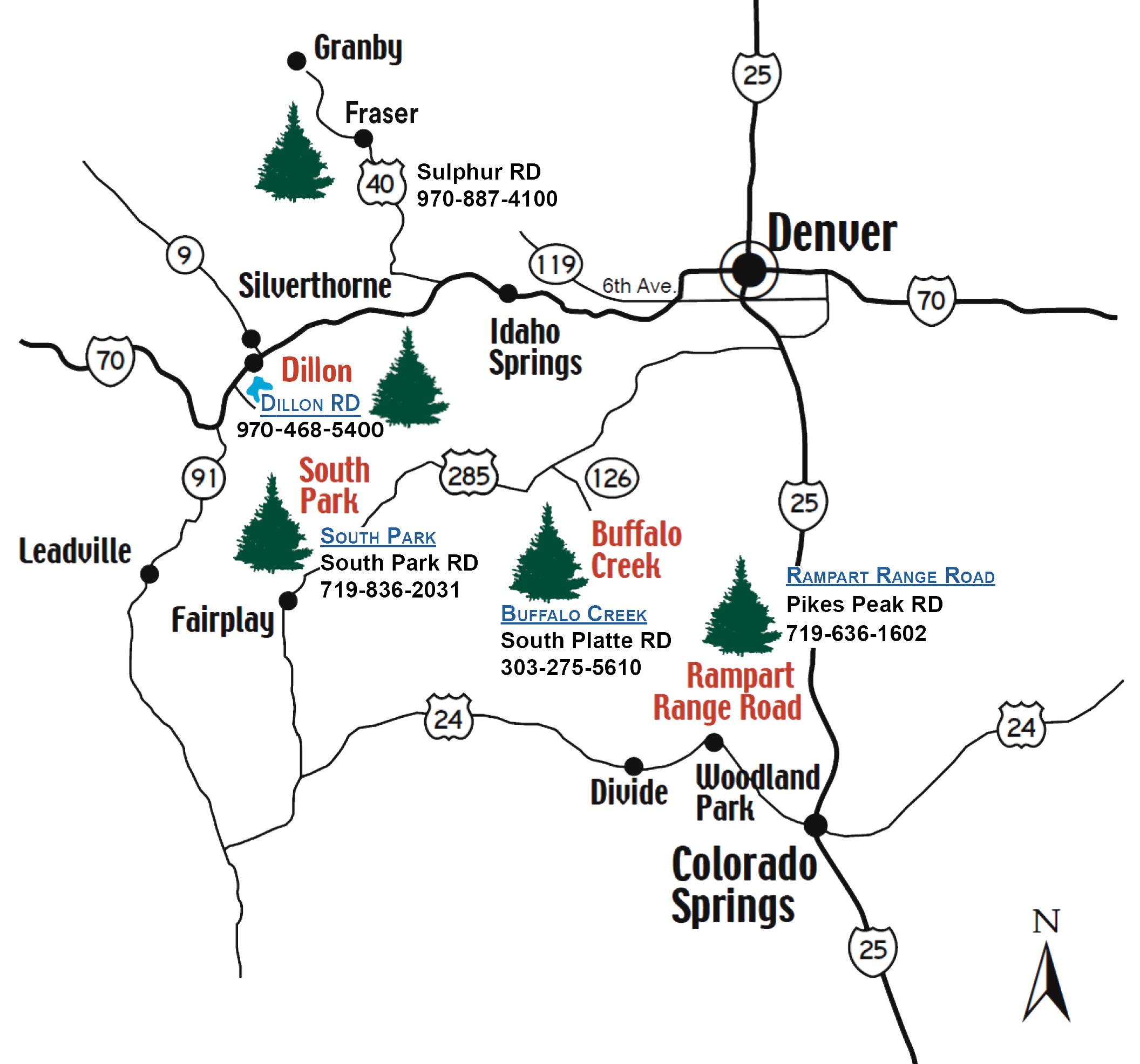 map of cutting areas around Denver, Front Range