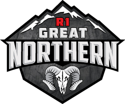 R1 Great Northern Logo with a Bighorn Ram skull