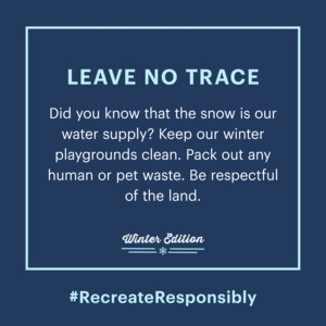 Leave No Trace Winter