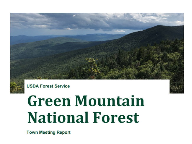 Green Mountain National Forest Town Report 2021