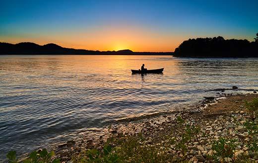 Cave Run Lake Canoe