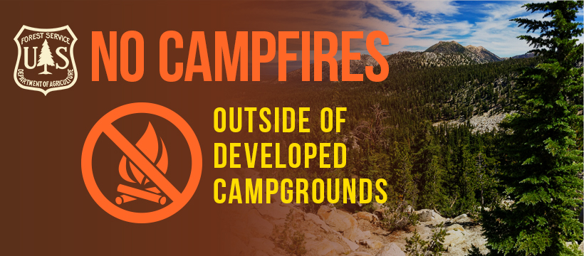 Graphic: No Campfires Outside of Developed Campgrounds
