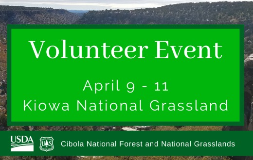 Volunteer Event at Rim Mills Campground April 9th through 11th