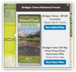 Snapshot of trail maps