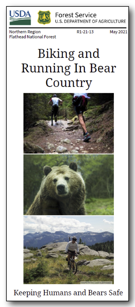 Biking and Running in Bear Country Brochure