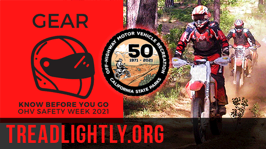 Gear. Know before you go: OHV Safety Week 2021.
