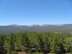 The view south from Ute Tower towards the crest of the Uinta Mountains.
