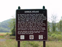 Sign at Superior Wetland