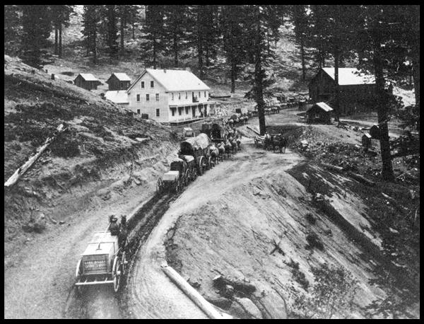 [Historic Photo] on Kings Canyon Road, about 3 miles northeast of Spooner Summit.