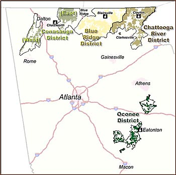 Chattahoochee-Oconee National Forests - Maps & Publications on