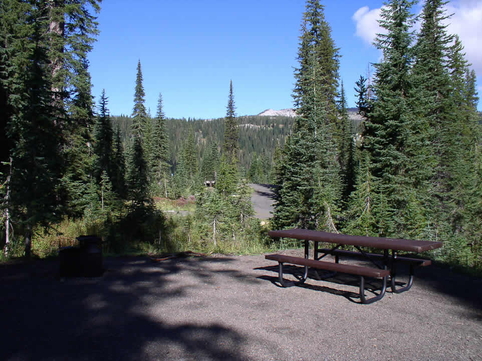 Photo of a campsite at Grouse Campground.