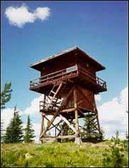 Photo of a Forest Service Fire lookout tower.