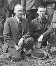 Wilfred W. White and K.D. Swan on a field trip to the Lick Creek Timber Sale area in April of 1938.