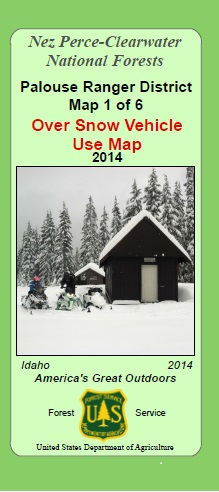 Cover of Map depicting snowmobiles and building