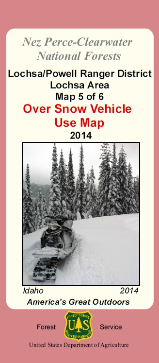 Map Cover depicting snowmobile in deep snow