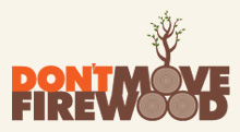 Don't Move Firewood logo and link to the Don't Move Firewood website