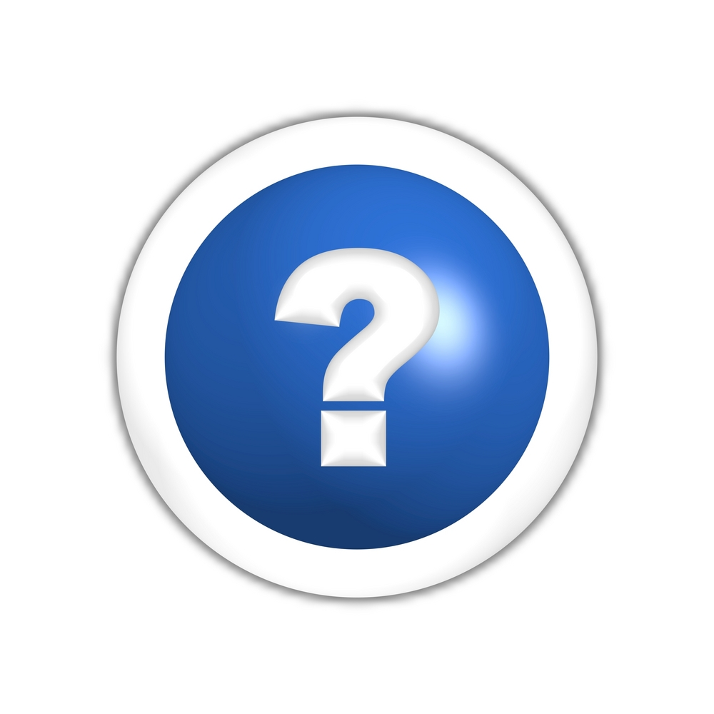 Question mark in a blue curcle background