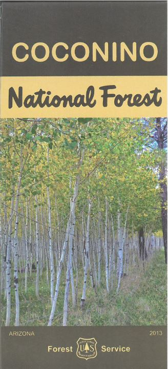 Cover of the Coconino National Forest Visitor Map