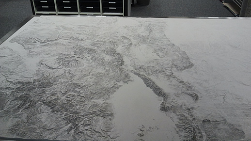Colorado Relief Map Display at the PLIC