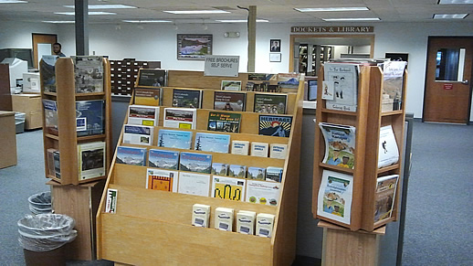 BLM & US Forest Service Recreational Brochures at the PLIC