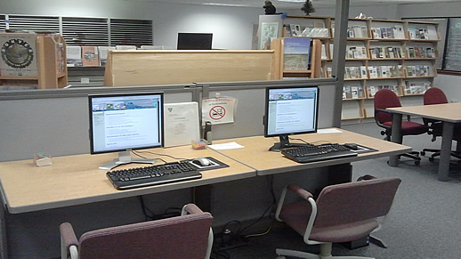 Computer Work Stations Available at the PLIC