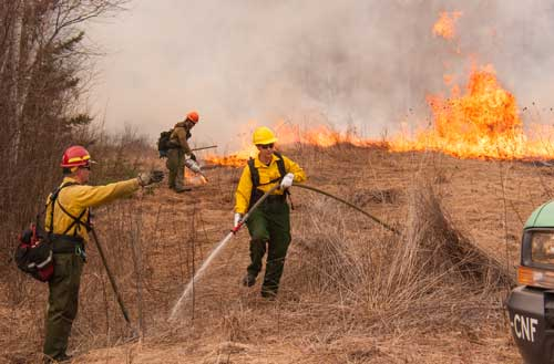 Clam Lake prescribed burn