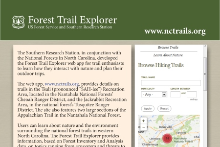 Innovative Web App Blends Trails and Forest Science