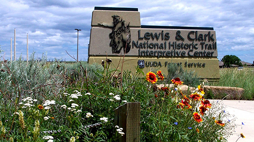 Lewis and Clark Interpretive Center Sign