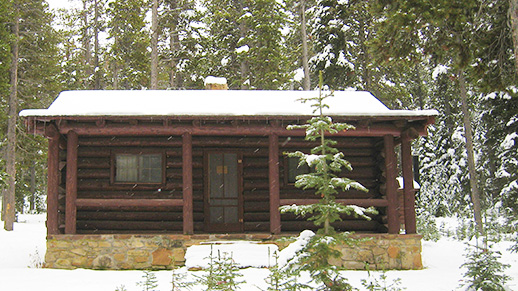 Kings Hill Cabin in Winter