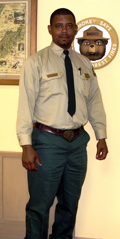 Cameron Seals in his Forest Service uniform